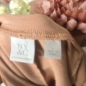 New York & Company Sweaters - NEW YORK & CO. Pink Knotted Crew Neck Sweatshirt